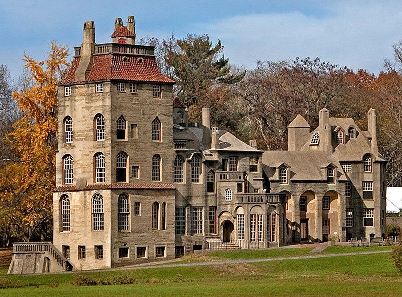 fonthill castle in doylestown pennsylvania was the home of henry chapman mercer built between mercer was most noted for his moravian ceramic tiles - Ceramic Tile Castle Decoration