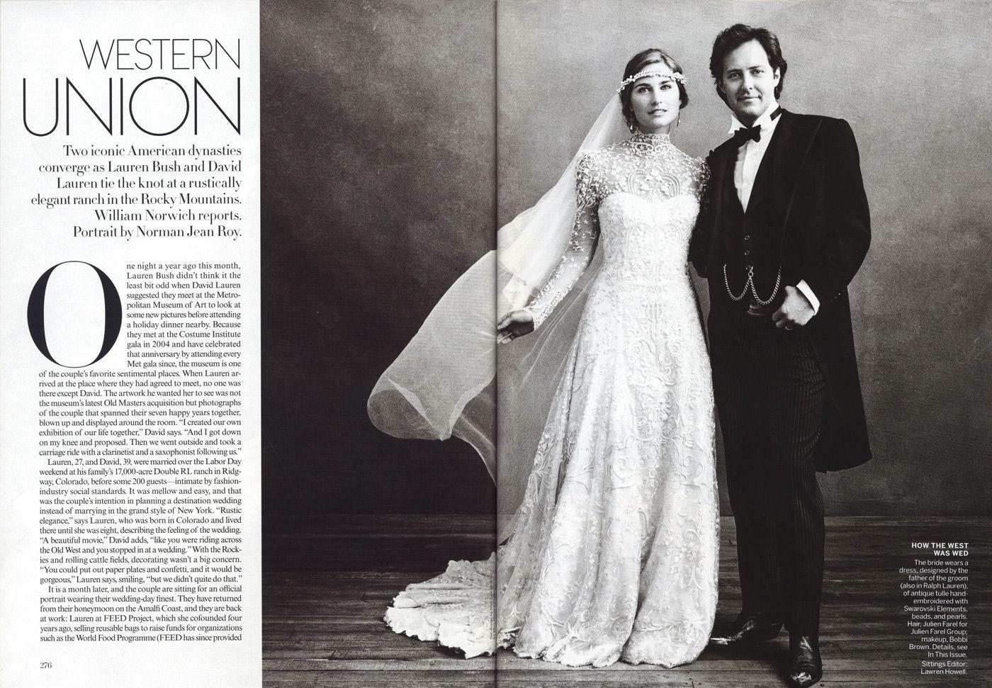 Lauren Bush And David Wedding Planned By Soiree Telluride Featured In Vogue Magazine