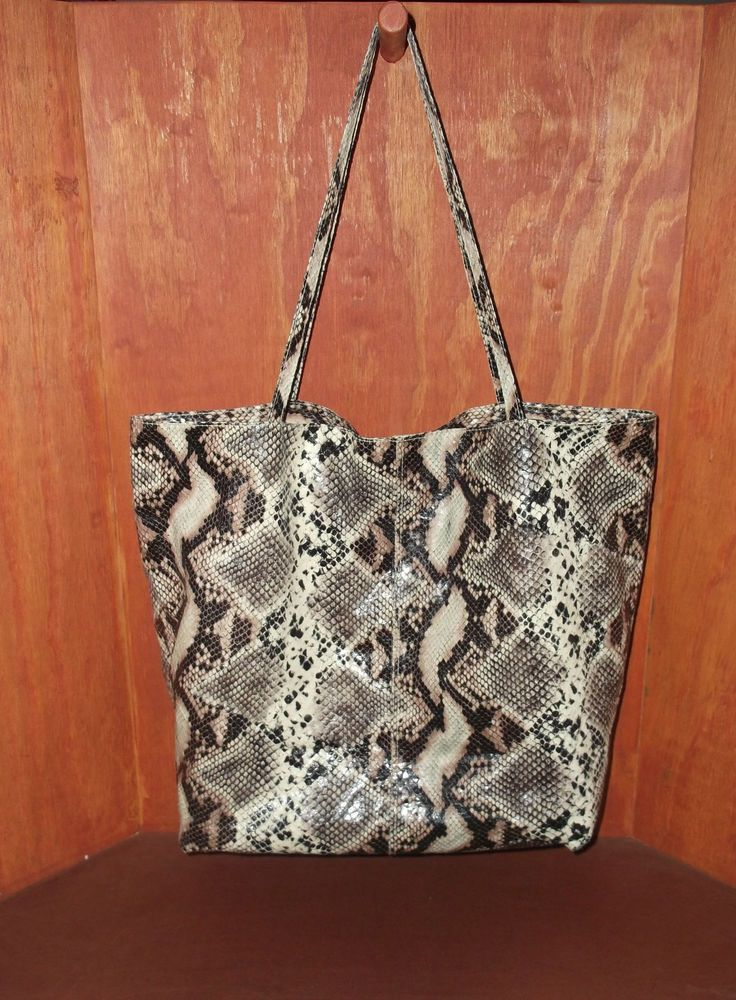 3ce12d4f81b4 Saks Fifth Avenue Faux Snakeskin Tote Bag  SaksFifthAvenue  TotesShoppers  http   stores