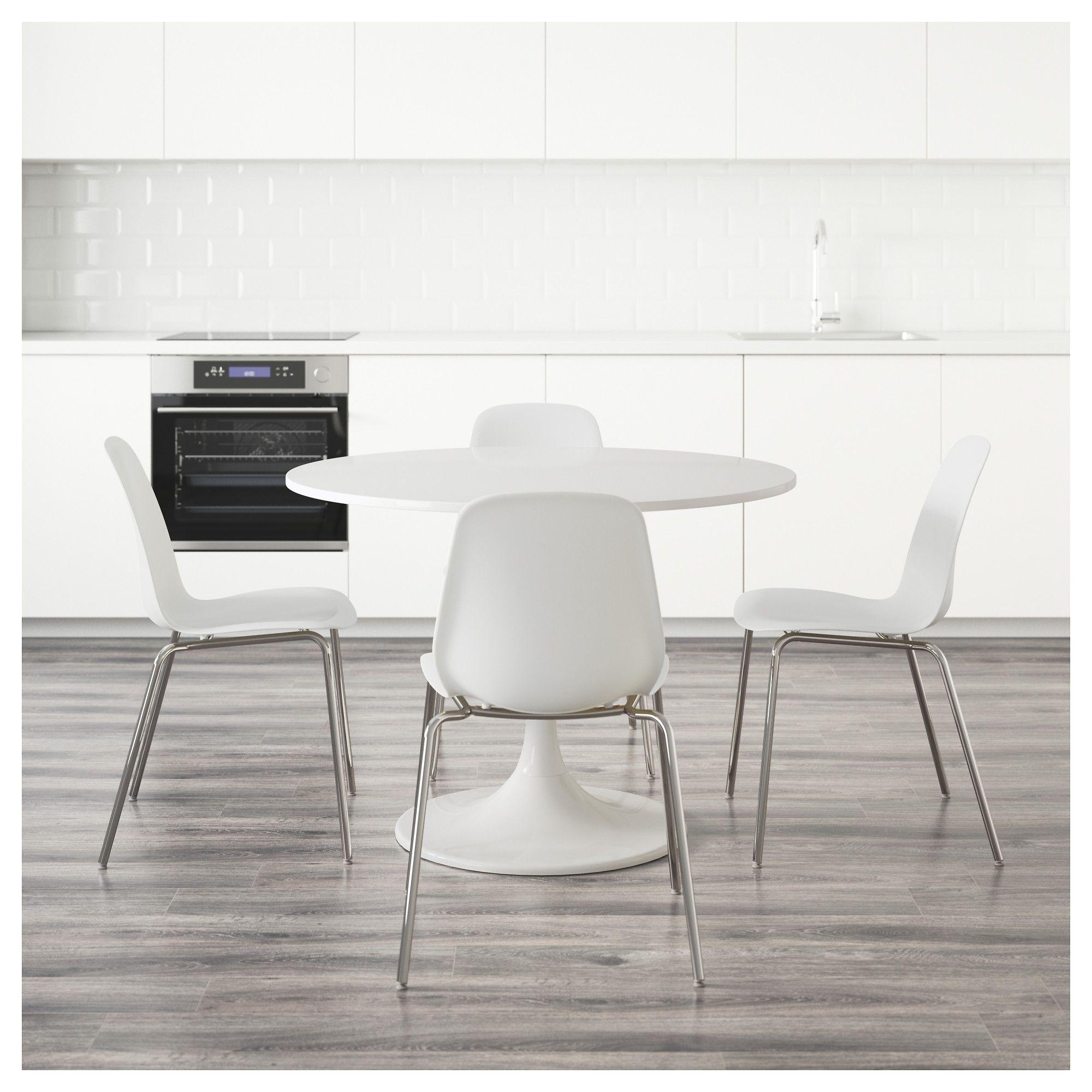 Brilliant Ikea Docksta Leifarne Table And 4 Chairs White White Evergreenethics Interior Chair Design Evergreenethicsorg