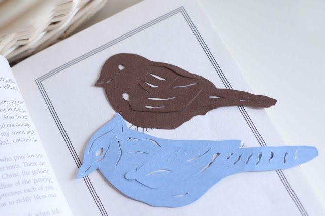 DIY Beautiful bird bookmarks