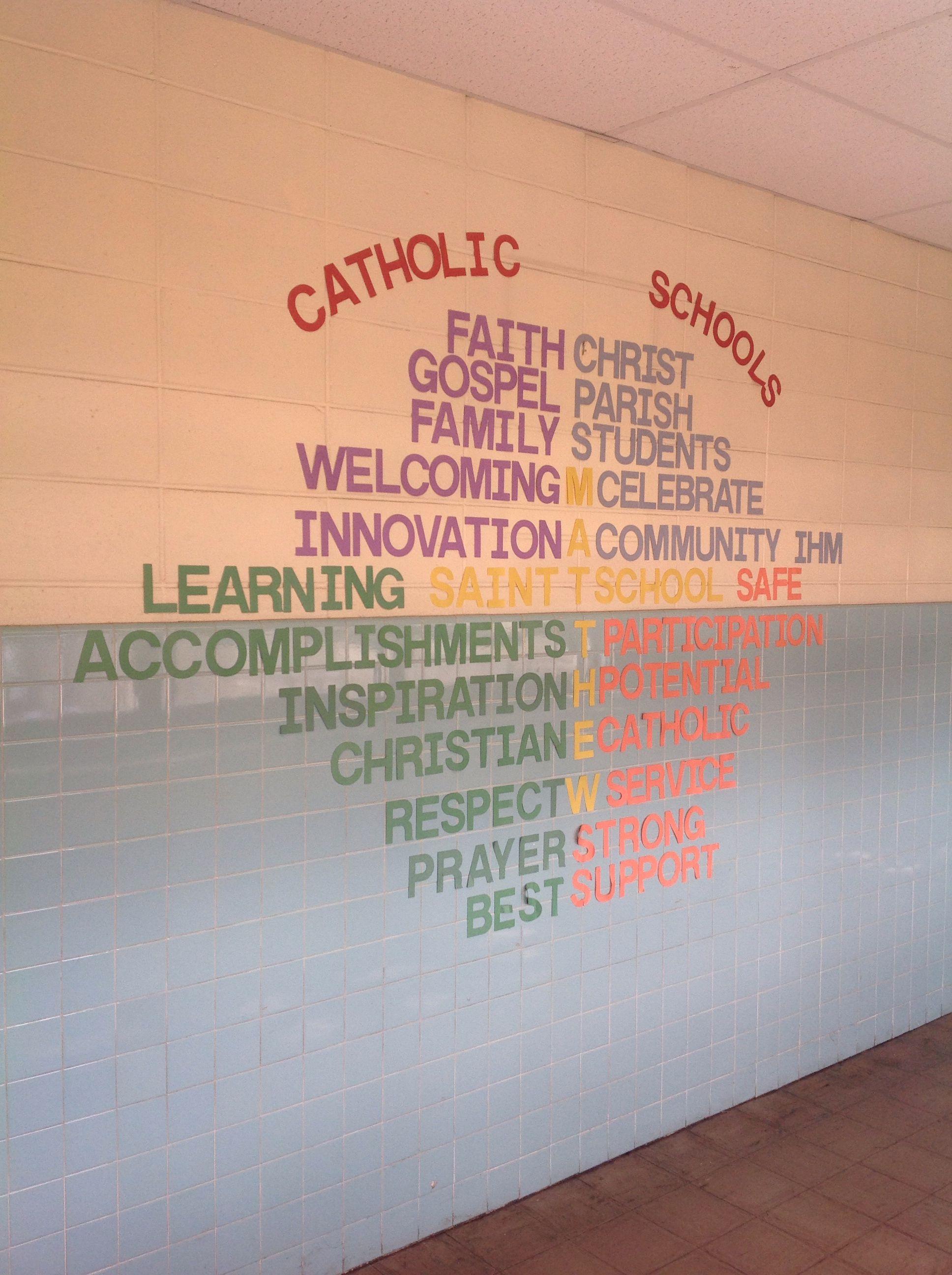Catholic Schools Week Logo Wordle Of Mission Statement