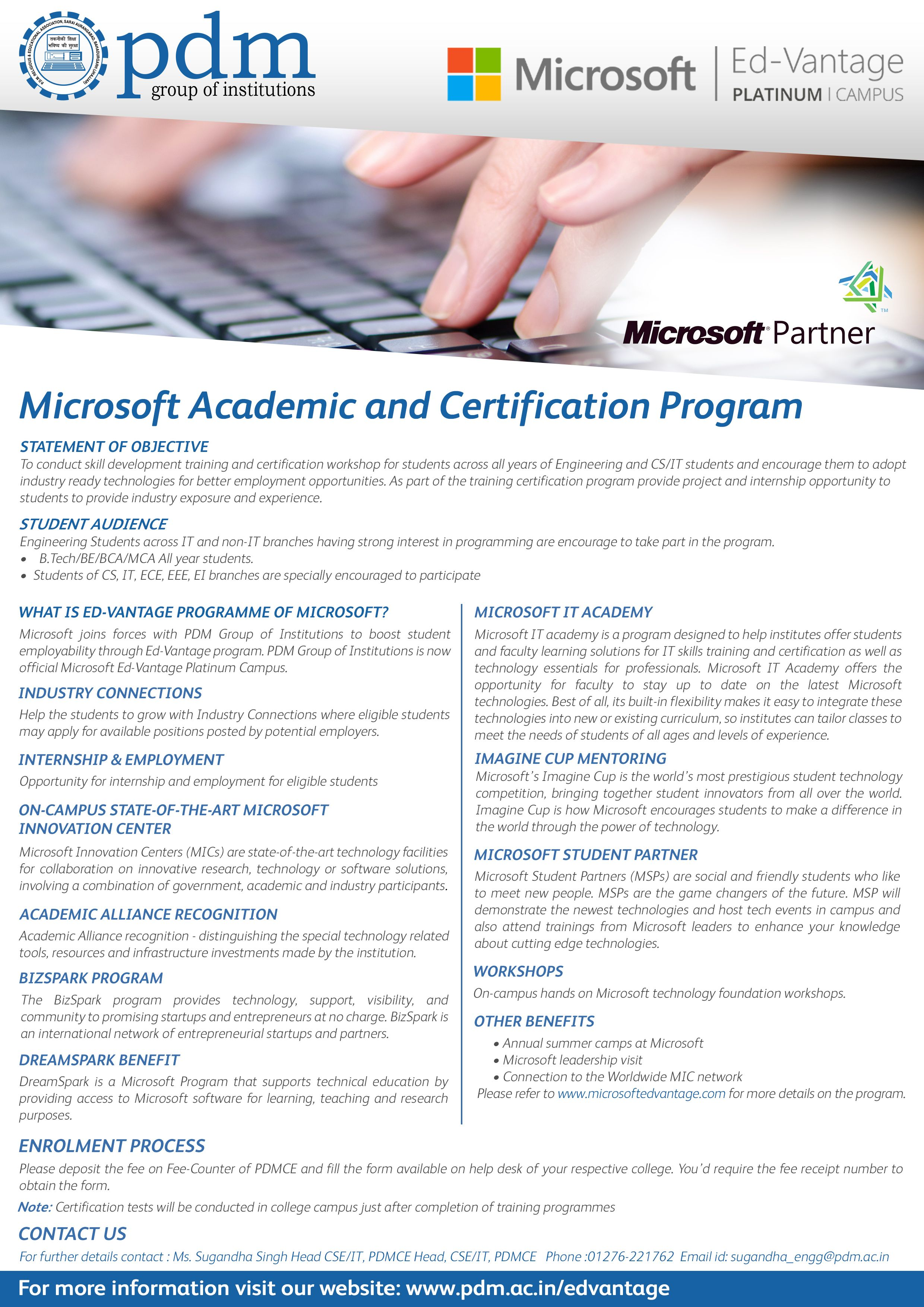 Pdm group of institutions microsoft academic and certification pdm group of institutions microsoft academic and certification program poster 2014 pdm pinterest 1betcityfo Images