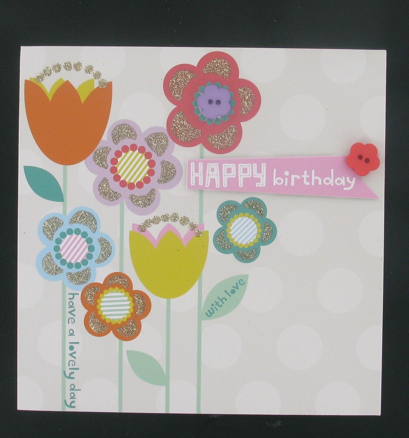 Tesco Floral Birthday Card My Work Pinterest Floral Birthday