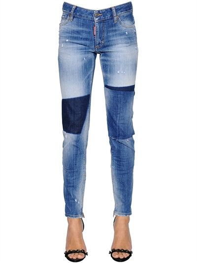 11 cm Stretch Denim Super Skinny Jeans Spring/summer Dsquared2 1rgij