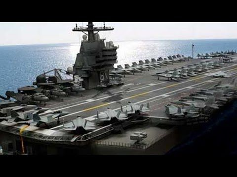 At Last New Gigantic Supercarrier Uss Gerald R Ford Begins Sea Trials Aircraft Carrier Aerial Video Ford