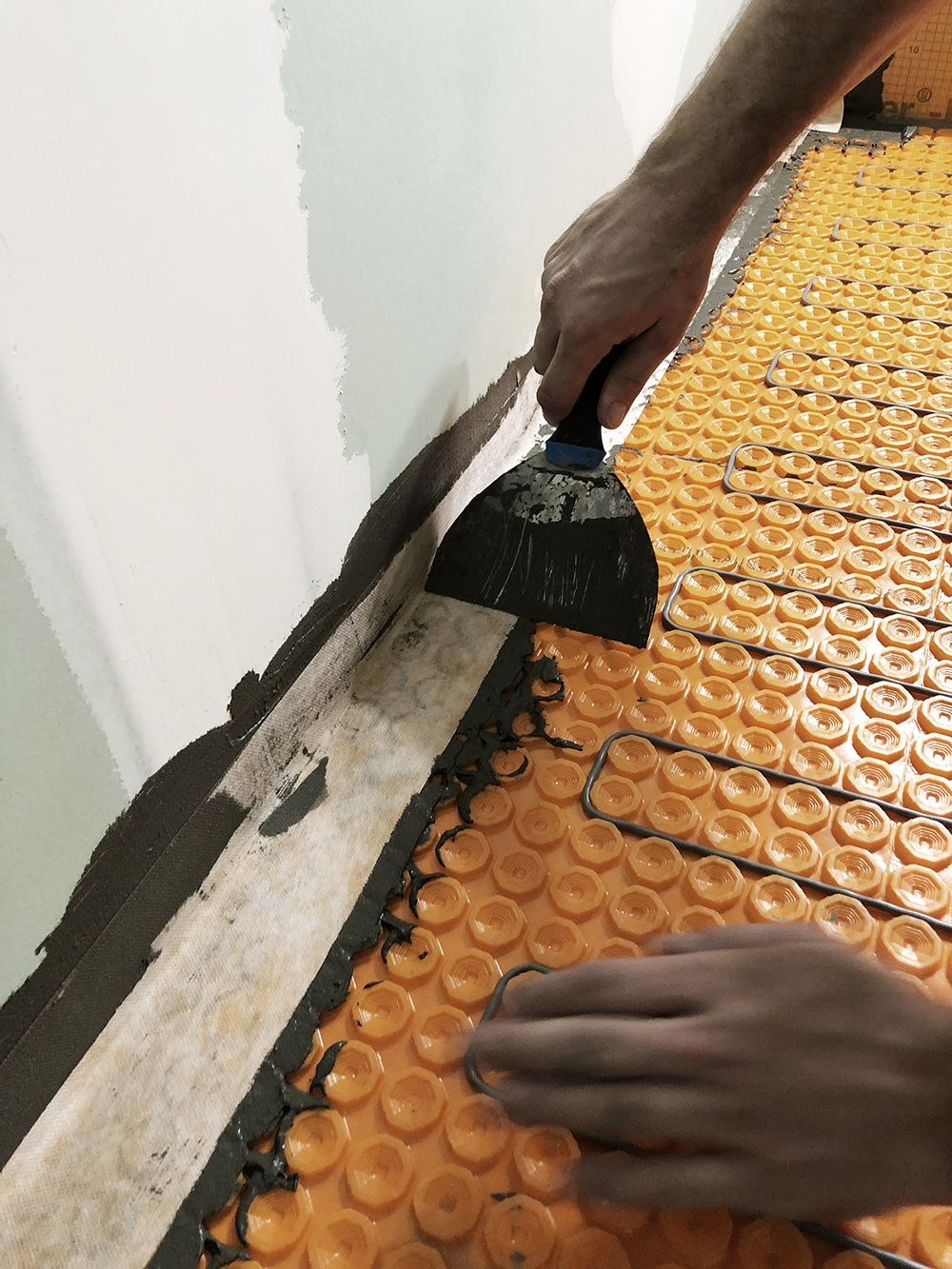 DIY Heated Floor Tile Tutorial   Tile floor, Flooring, Tiles