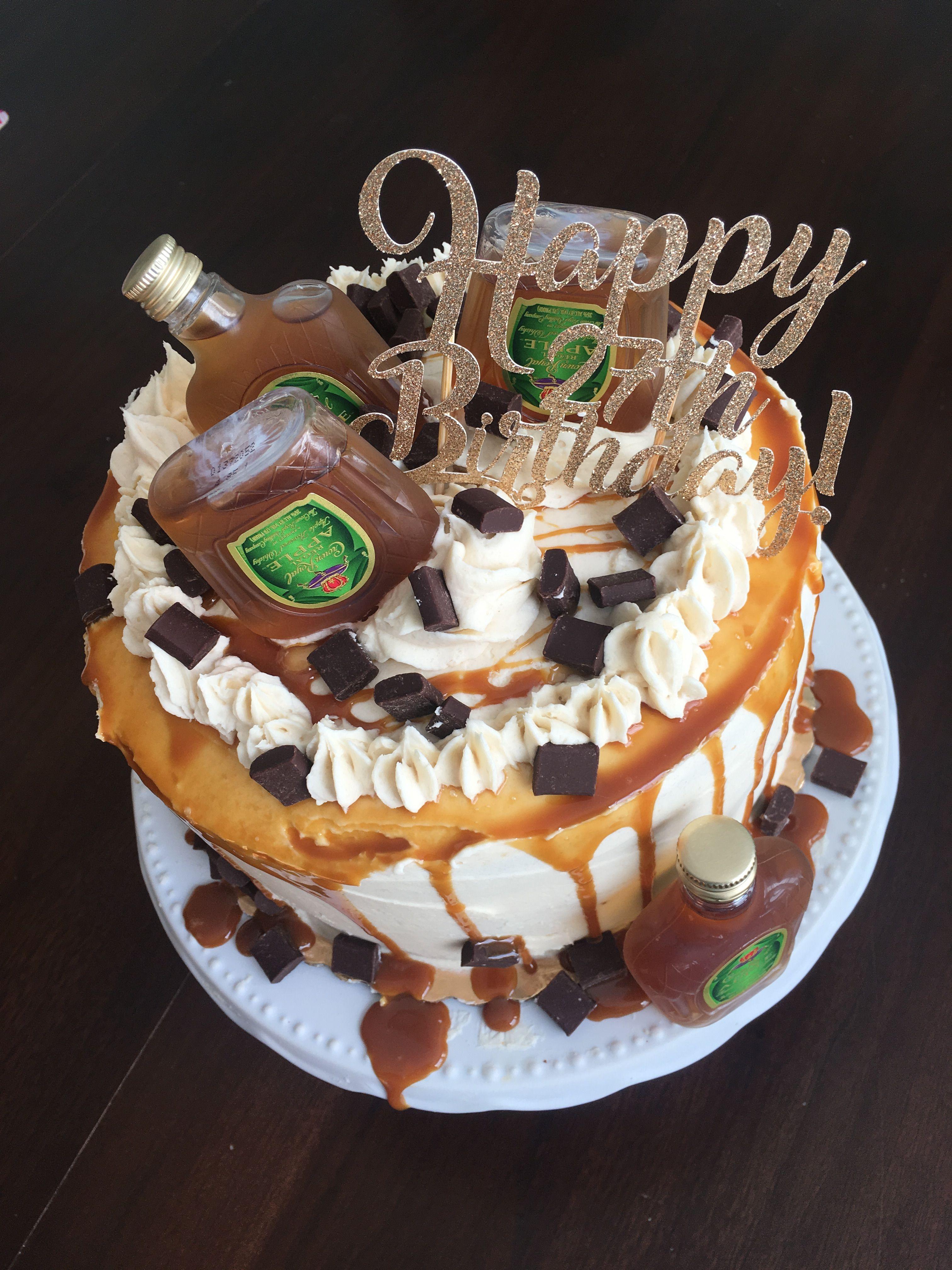 Crown Apple Infused Cake Whiskey Cake Vanilla Bean Cake Brown
