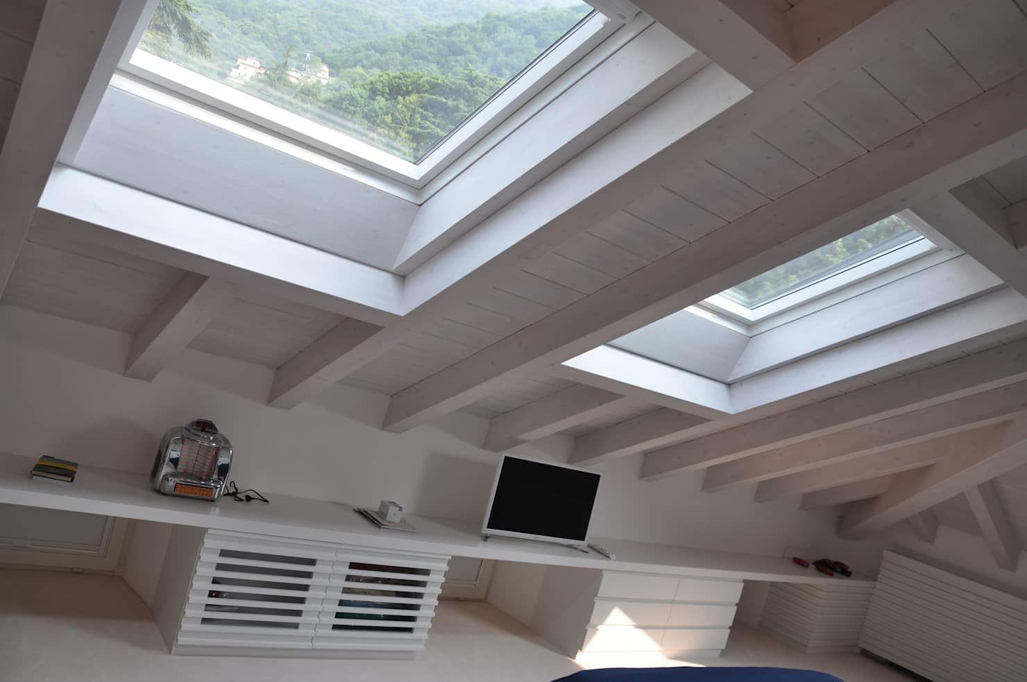 Ristrutturazione ed interior design sottotetto: camera da ...