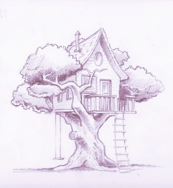 40 Cool And Simple Drawings Ideas To Kill Time Tree House