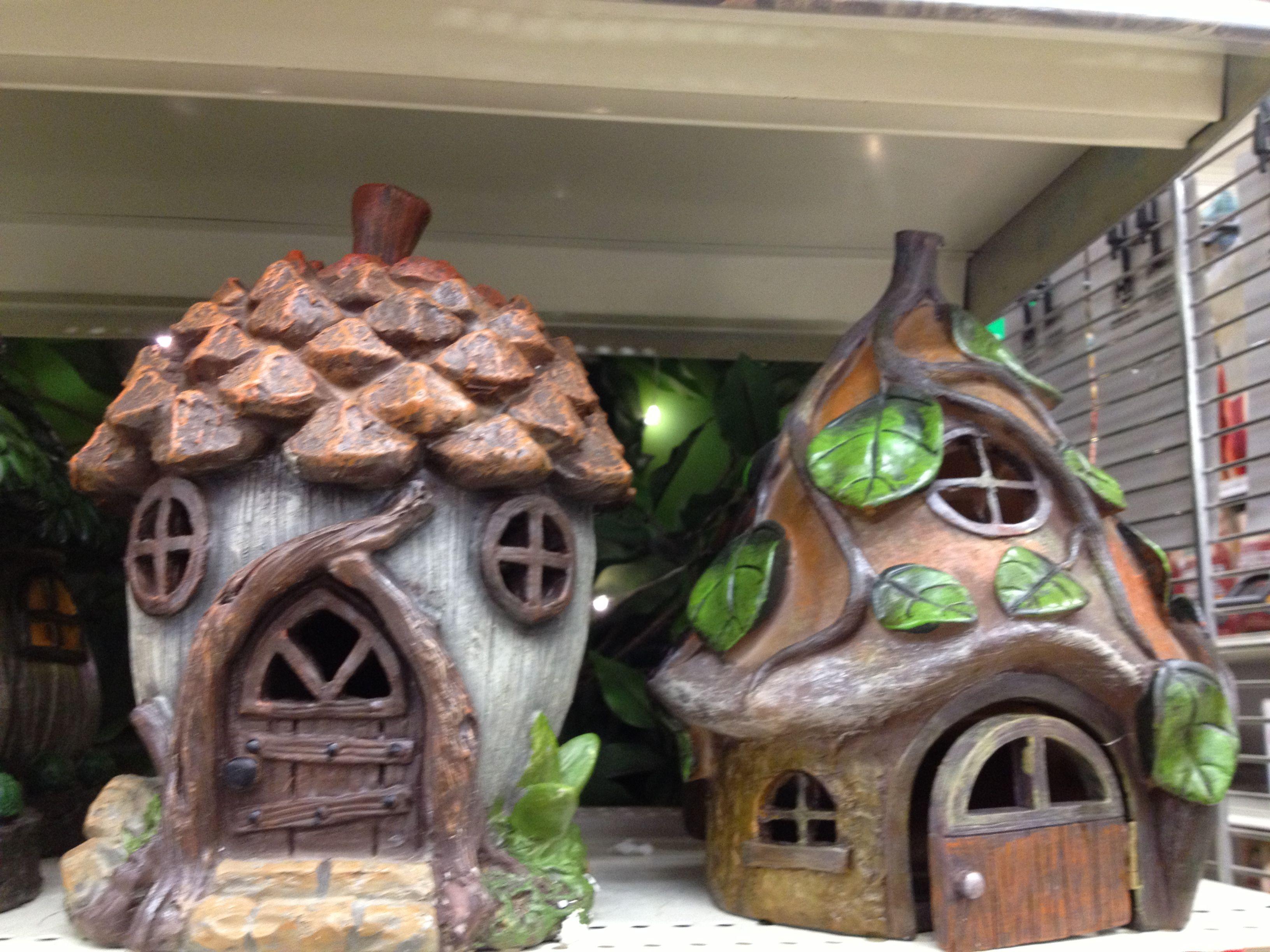 I found these at Canadian Tire!   Miniature fairy gardens, Fairy garden,  Fairy houses