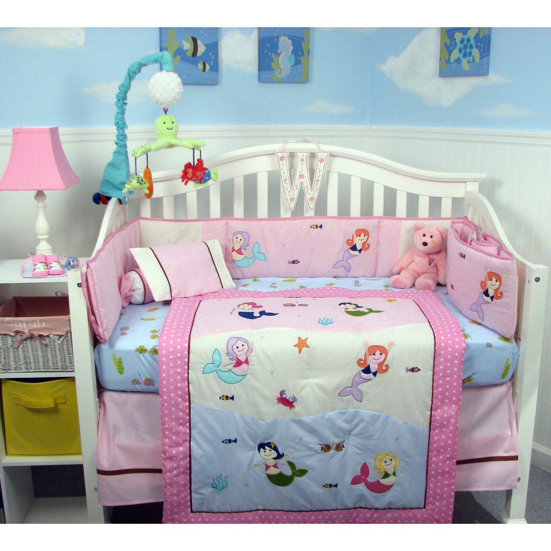 Mermaid Nursery Decor Mermaid Baby Nursery Crib Bedding