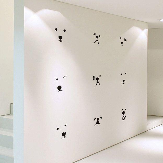 Lovely Dog Faces Medium Size DIY Modern Wall Art By