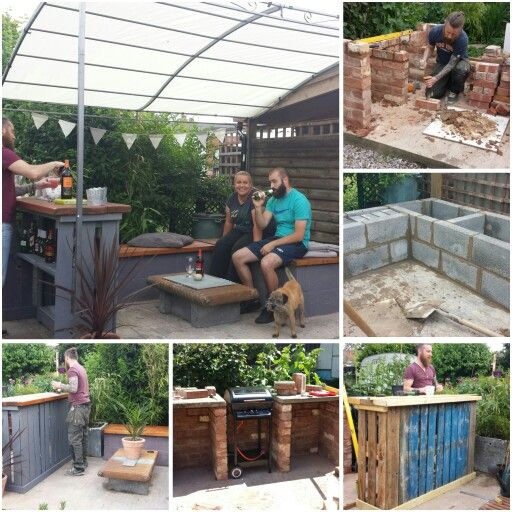 Diy Outdoor Entertainment Area Industrial Chic Breeze Block Seating Brick Bbq Pallet Bar Outdoor Entertaining Area Brick Bbq Diy Outdoor