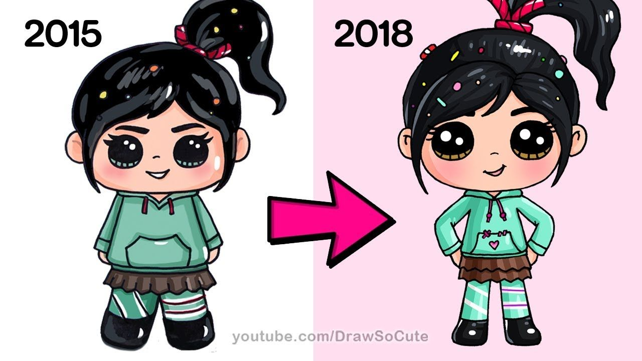 How To Draw Vanellope New Ralph Breaks The Internet Cute