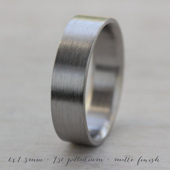 6x1 5mm Men 39 S Comfort Fit Palladium Or Gold Wedding By Aidememoire Mens Gold Wedding Band Mens Wedding Bands Wedding Bands