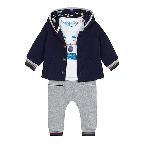 37151ae4c96d4 Baker by Ted Baker Baby boys  navy ribbed jacket