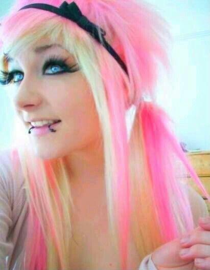 Pink And White Hair Scene Hair Colors Scene Hair Hair Styles