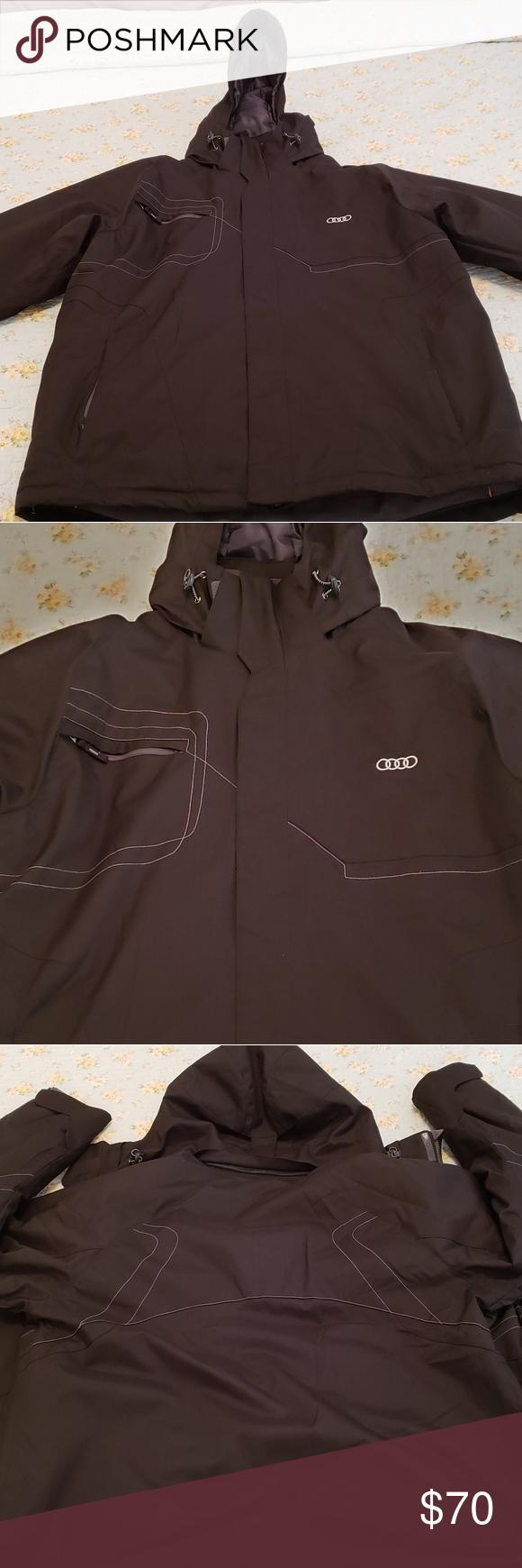 Black Men's Large Audi Winter Coat Black Men's Large Audi Winter Coat....waterpr... -