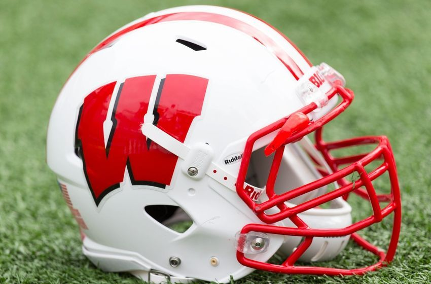Image result for wisconsin football helmets