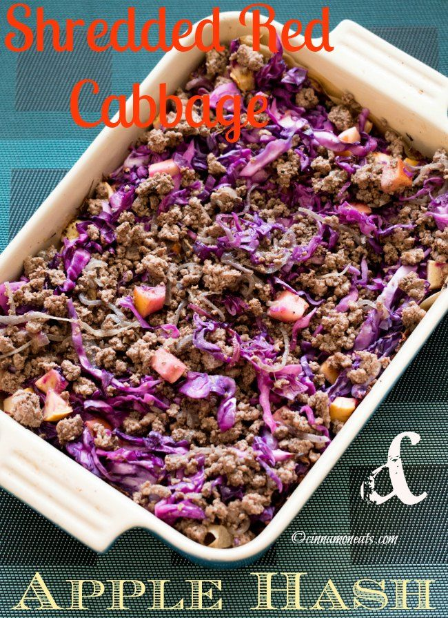 Shredded Red Cabbage Apple Hash Cinnamon Eats Red Cabbage Grass Fed Ghee Paleo Beef