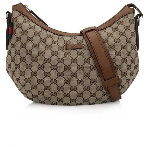 d323c97addb Pre-owned Gucci Original GG Canvas Messenger Bag ( 580) ❤ liked on Polyvore  featuring bags