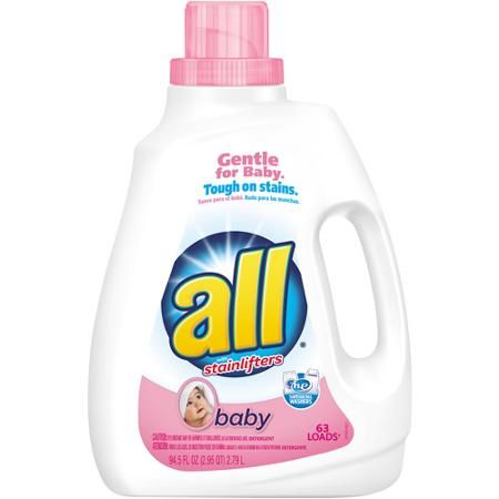 All with Stainlifters Baby Liquid Laundry Detergent, 94.5 fl oz