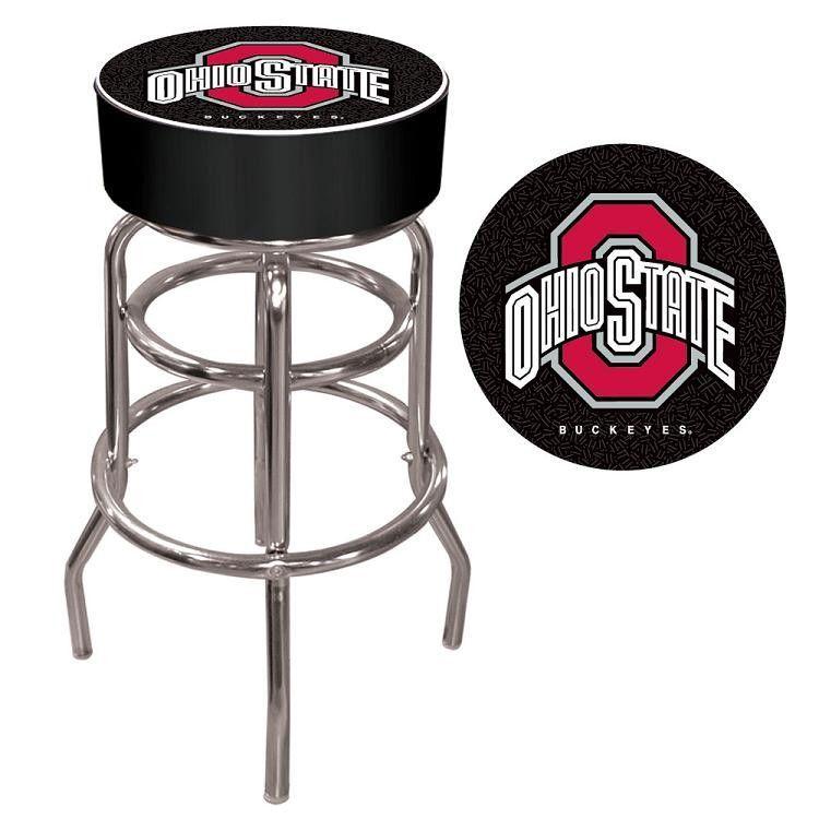 Trademark Gameroom Ohio State National Champions Chrome Bar Stool with Swivel
