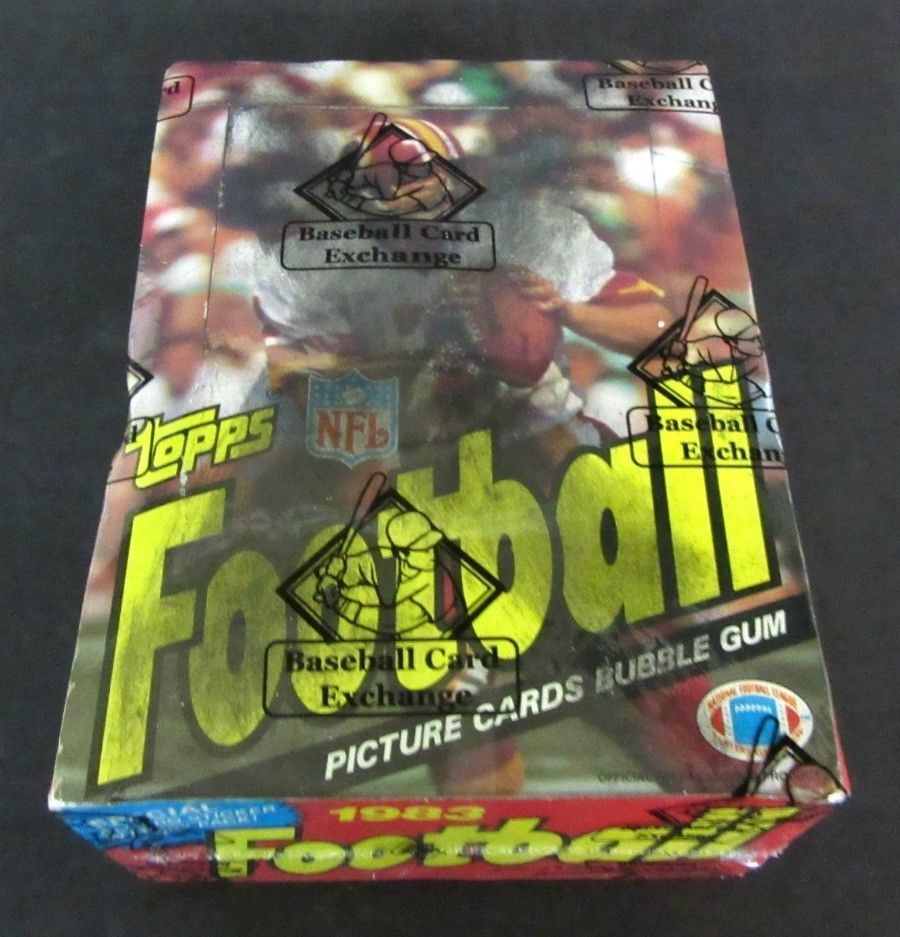 1983 topps football unopened wax box bbce wrapped