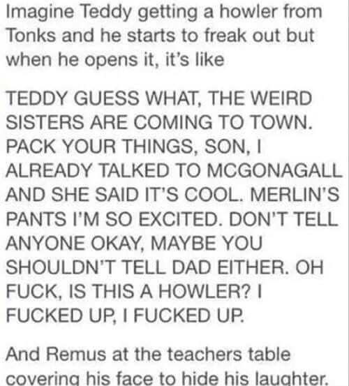 Tonks and Teddy Lupin | Harry Potter Fanfiction ...