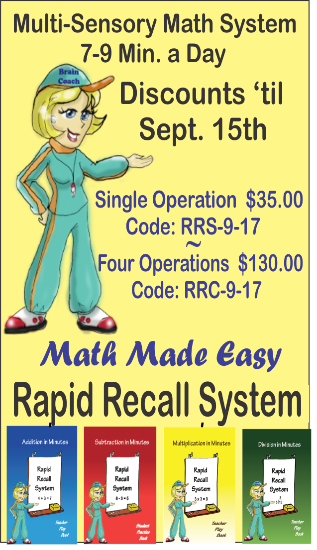 This special math program is quick, easy and launches higher levels ...