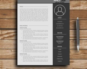 modern resume template cv template cover letter professional and creative resume teacher resume word resume instant download