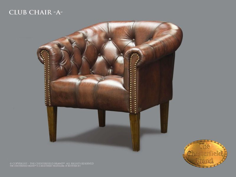 chesterfield fauteuil clubchair a antique brun. Black Bedroom Furniture Sets. Home Design Ideas