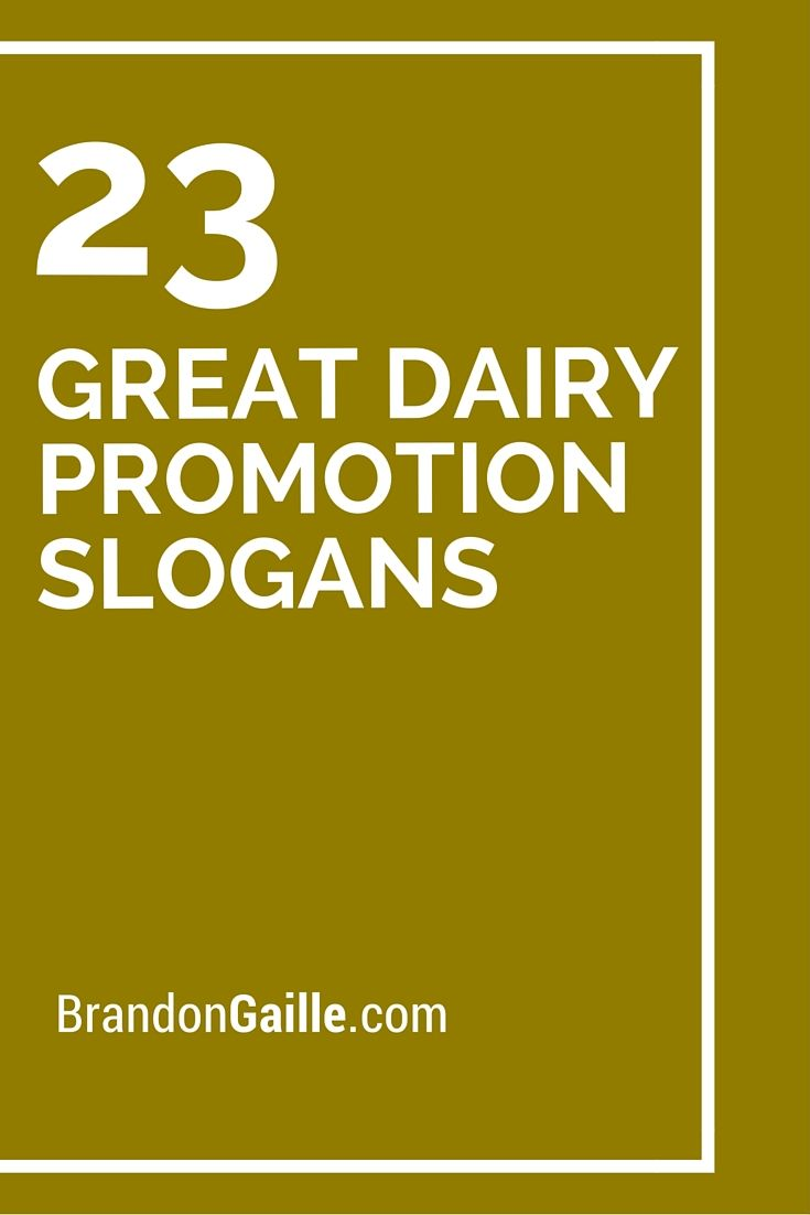 75 great dairy promotion slogans | your pinterest likes | pinterest