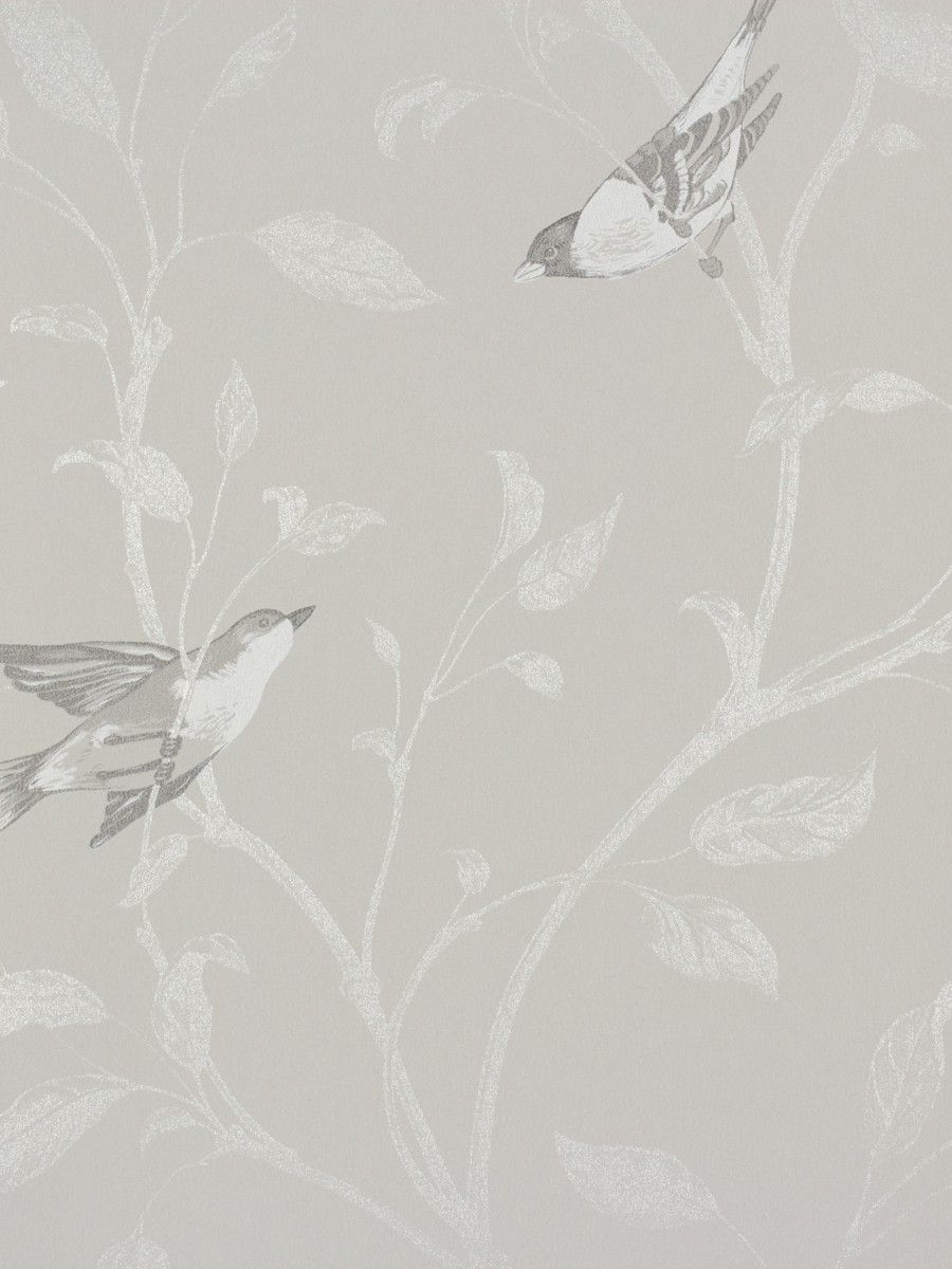 Wallpaper Rasch Tendresse Non Woven Wallpaper 798920 Bird Grey Silver Bird Wallpaper Wallpaper Abstract Artwork
