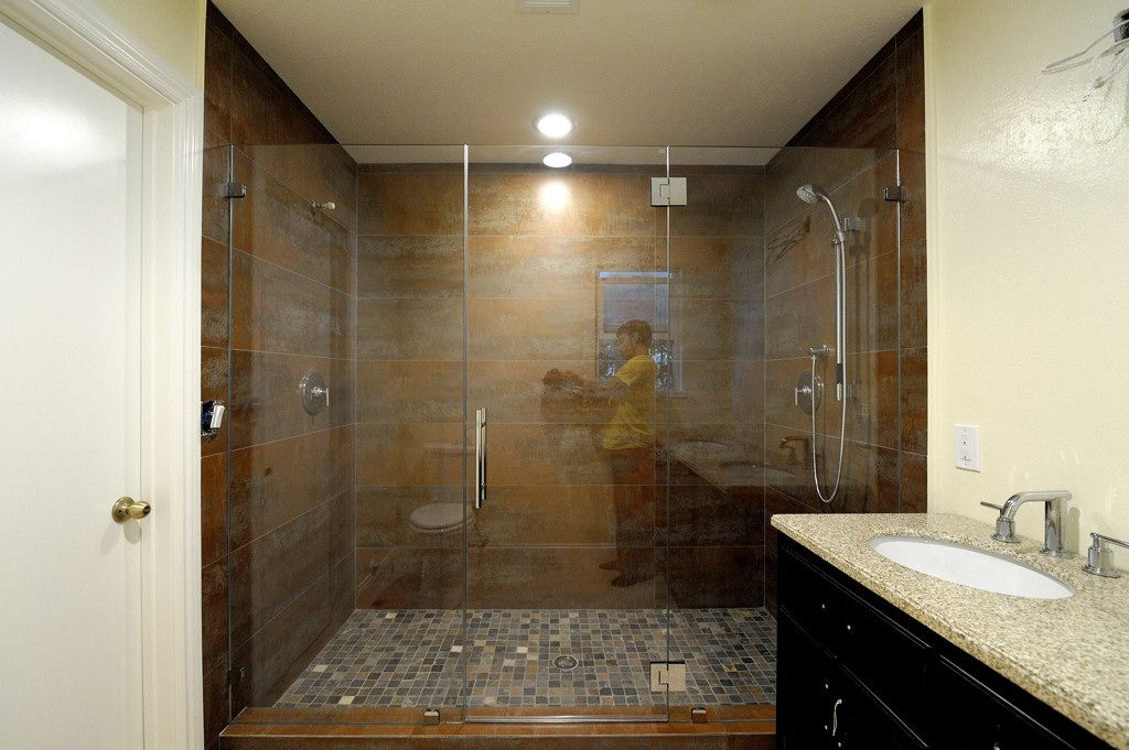 We paid 1500 for our enclosure with starphire glass the sides how much do frameless glass shower doors cost planetlyrics Image collections