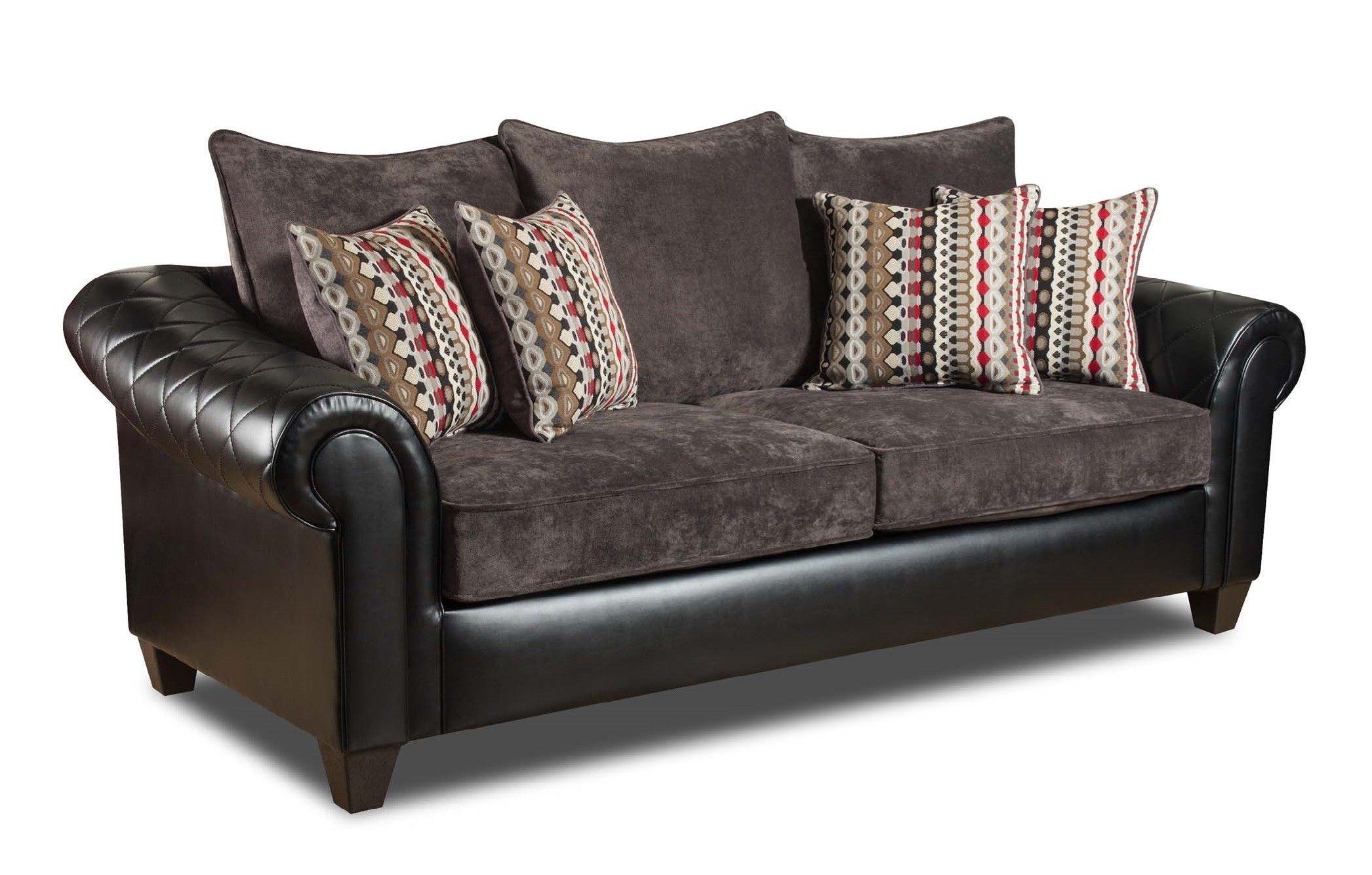 Afton Sofa in Ghana Black by Chelsea Home Furniture ...