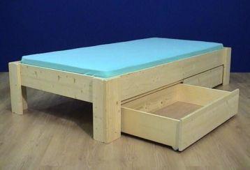 Slaapkamer Massief Hout : Bedden met laden in elke maat! massief hout extreem sterk