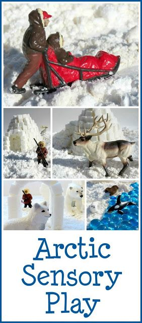 Arctic sensory play- cool ideas for my teacher friends :)
