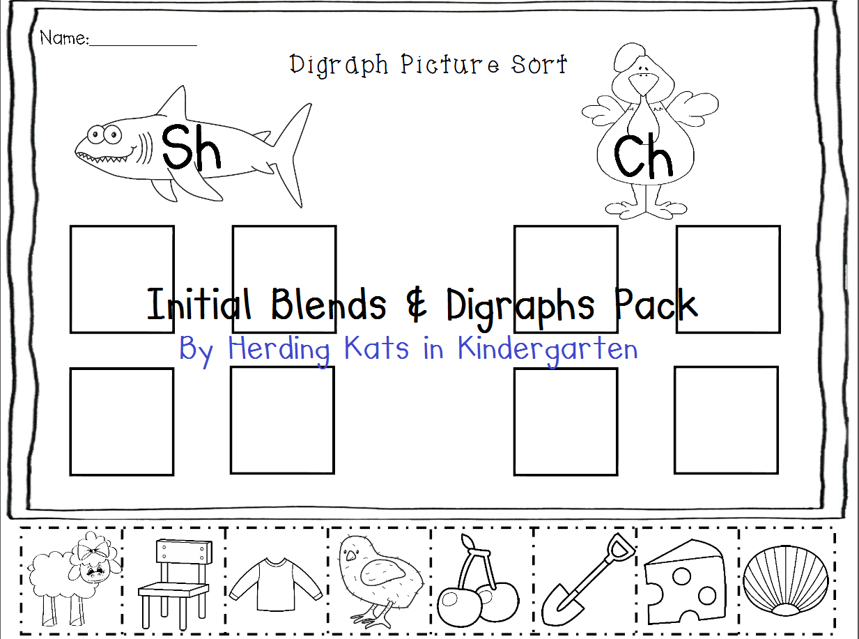 Consonant Blends Amp Digraphs Pack