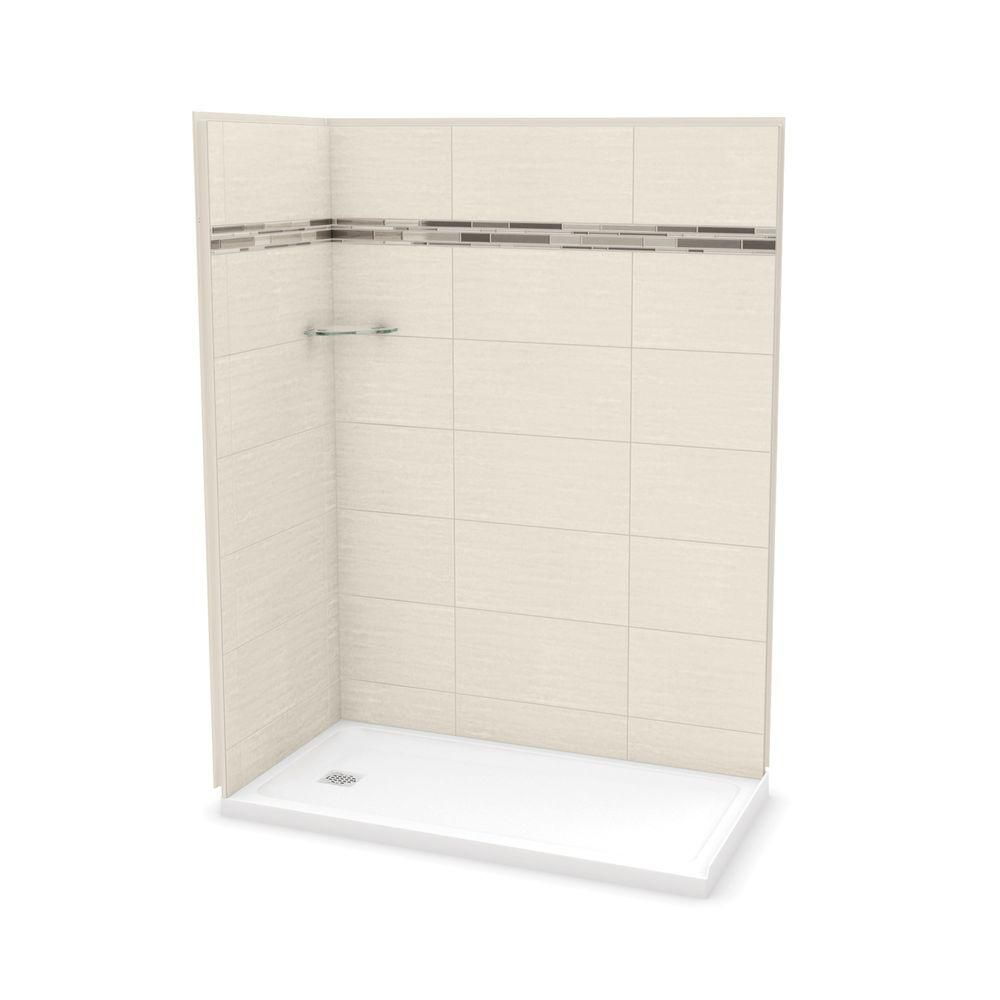 Utile by MAAX 32 in. x 60 in. x 83.5 in. Corner Shower Kit with Left ...
