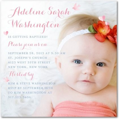 Diminutive Details Baptism Christening Invitations Ceci New
