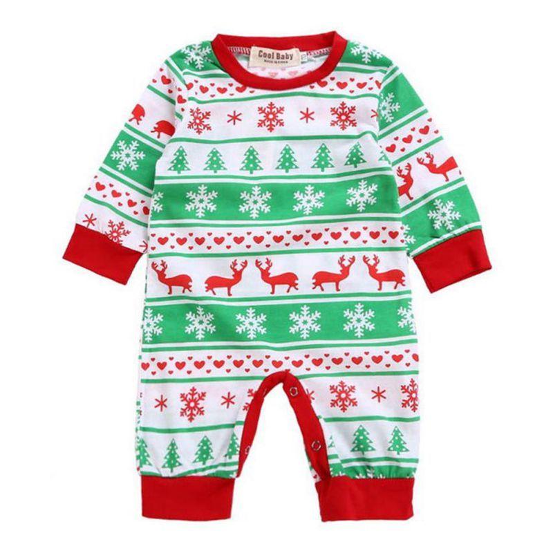 Infant Deer Red Casual Jumpsuit Rompers Fashion Girl Boy Moose Deer