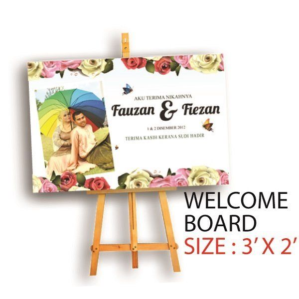 Everypost Pearl Design Welcome Boards Kad Kahwin