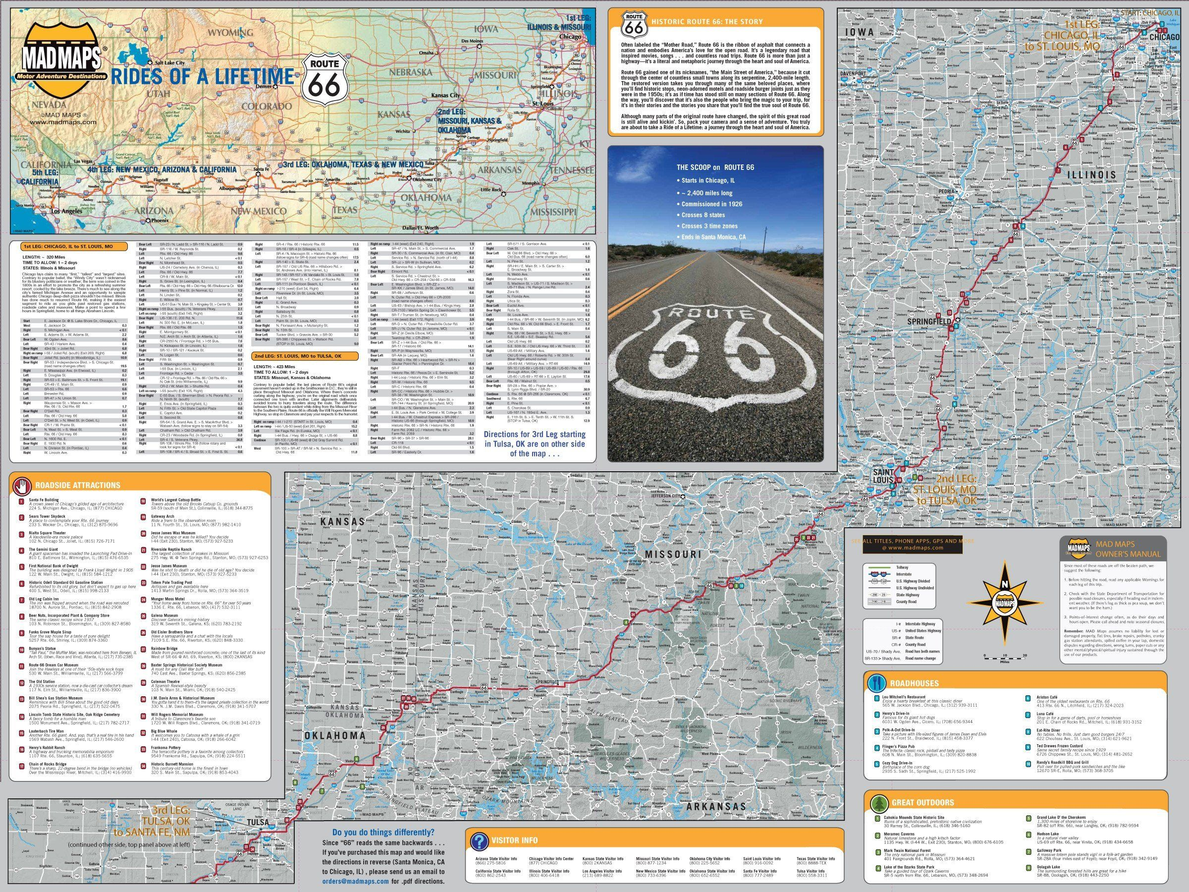 ROL66 - Rides of a Lifetime Road Trip Map - Route 66 ...