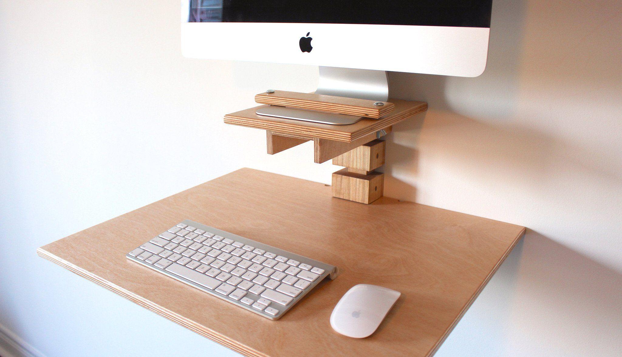 Wall Mounted Standing Desk Imac Model Imac Schreibtisch Schreibtisch Tisch