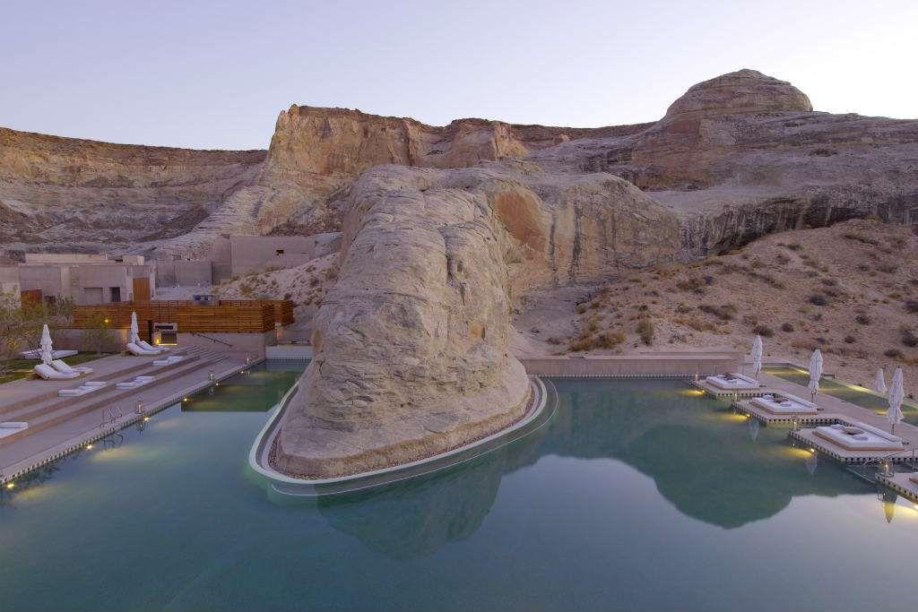 Zambullirse en este oasis en medio del Gran Cañón sí tiene precio, pero merece la pena, ¿no?Aman Resorts Amangiri