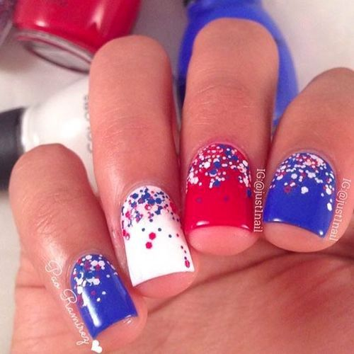 4th Of July Nails Best Red White And Blue Nails July Nails Usa Nails Fourth Of July Nails