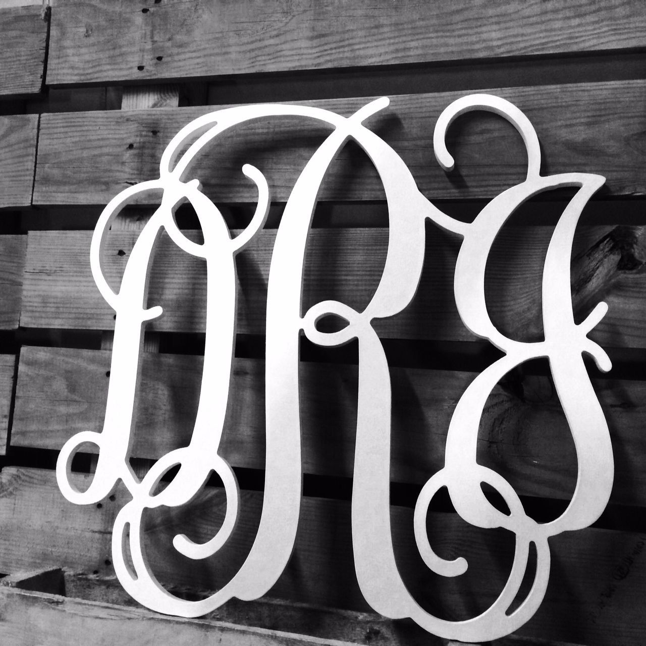 Wooden Monogram 3 Letter Sweetheart Table Wedding Guest Book Wall Hanging
