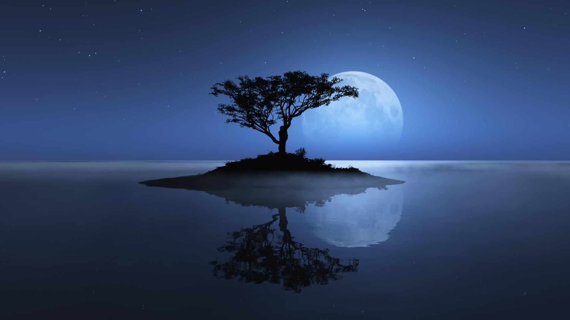 Falling Water Wallpaper 1080p 3d Nature Wallpaper Full Moon Night Nature Hd Wallpapers